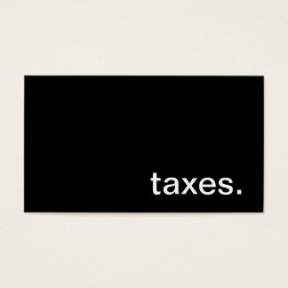 Taxes Business Card