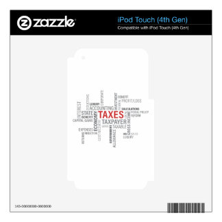 """Taxes"" Decal For iPod Touch 4G"