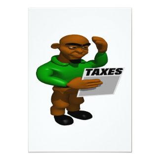 "Taxes 5"" X 7"" Invitation Card"
