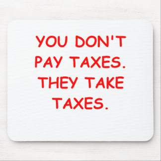 taxes mouse pad