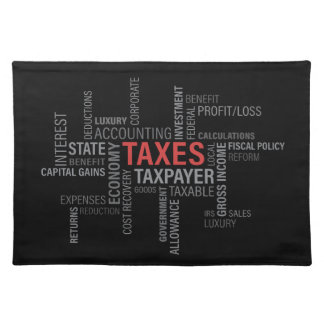 """Taxes"" Placemat"