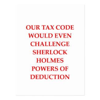 taxes postcard