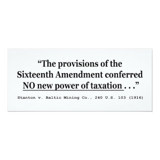 Taxes Stanton v Baltic Mining Co 240 US 103 1916 Card