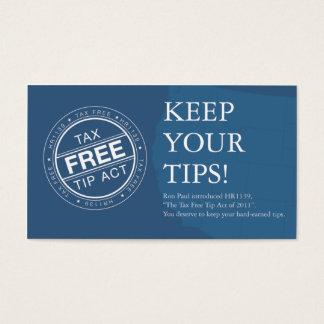 TaxFreeTipAct.com Cards
