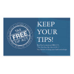 TaxFreeTipAct.com Cards Business Card Template