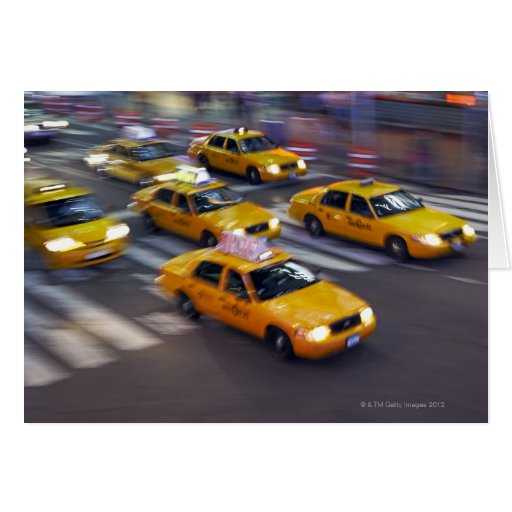 Taxi amarillo de Nueva York Felicitaciones
