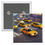 Taxi amarillo de Nueva York Pin Cuadrada 5 Cm