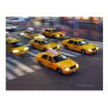 Taxi amarillo de Nueva York Postal