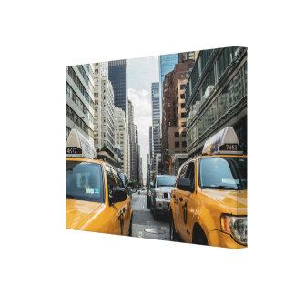 Taxi amarillo de NYC en la impresión de la lona de Impresion De Lienzo
