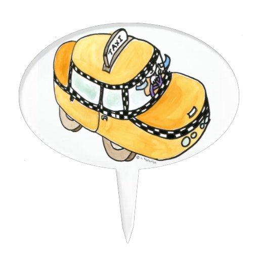Taxi amarillo decoraciones de tartas