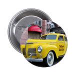 Taxi amarillo del vintage de Nueva York Pins