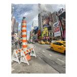Taxi amarillo en NYC Membrete Personalizado