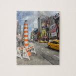 Taxi amarillo en NYC Rompecabezas Con Fotos