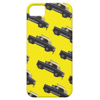 Taxi amarillo y negro del atasco - iPhone 5 carcasa