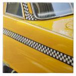 Taxi antiguo azulejo cuadrado grande
