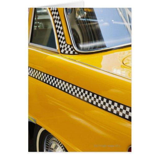 Taxi antiguo tarjeta de felicitación