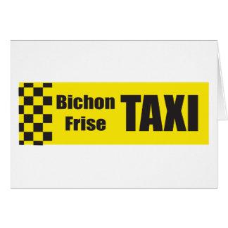 Taxi Bichon Frise Greeting Card
