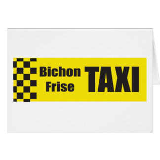 Taxi Bichon Frise Tarjeta De Felicitación
