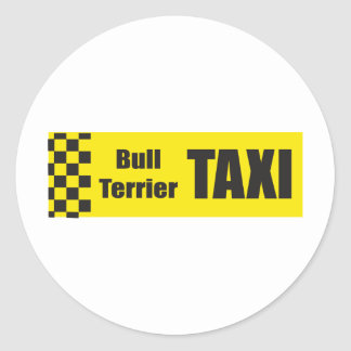 Taxi Bull Terrier Stickers