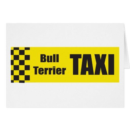 Taxi bull terrier tarjeta
