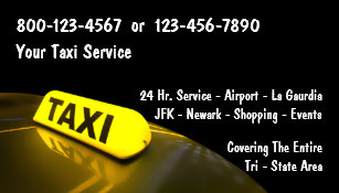 taxi business cards - Taxi Business Cards