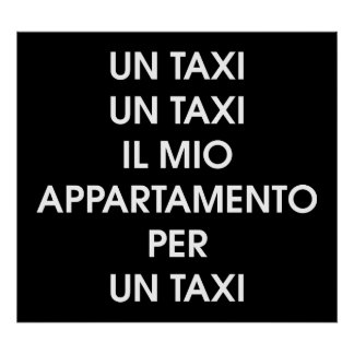 Taxi by Leslie Peppers [Italian Version] Poster