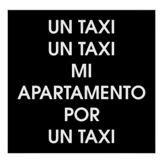 Taxi by Leslie Peppers [Spanish Version] Poster