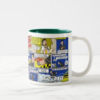 Taxi Cab Adventures 1 Two-Tone Coffee Mug