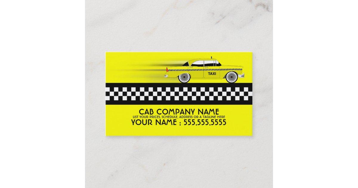 taxi cab business card | Zazzle.com