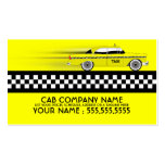 taxi cab business card