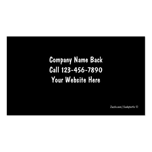 Taxi Cab Business Cards (back side)