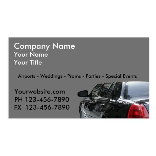 Taxi Cab Business Cards