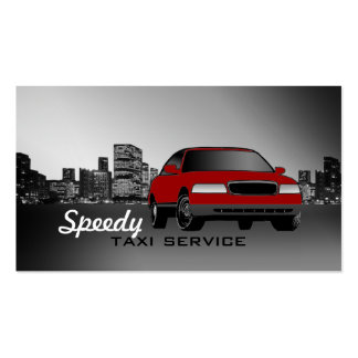 Taxi Cab Business Cards -Car Color Changeable