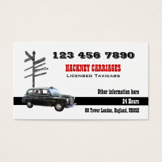 Taxi cab calendar London British Business Card