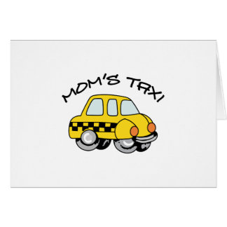 TAXI CAB GREETING CARD