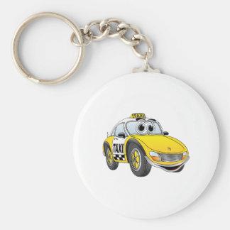 Taxi Cab Cartoon Basic Round Button Keychain