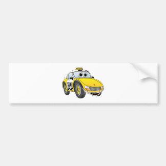 Taxi Cab Cartoon Bumper Sticker