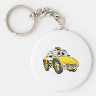 Taxi Cab Cartoon Key Chain