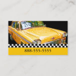 TAXI CAB, CHECKERED CABS BUSINESS CARD