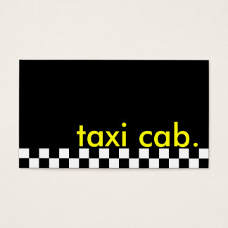 taxi cab. (checkered stripe) business card
