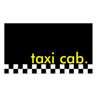taxi cab. (checkered stripe) business card template
