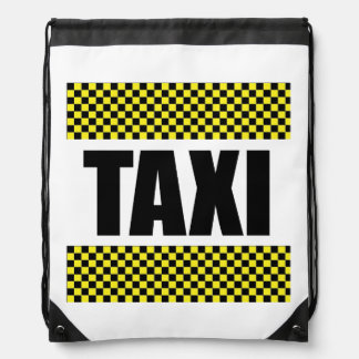 Taxi Cab Drawstring Backpack
