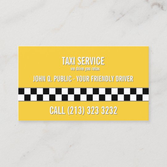 Taxi cab driver black and white pattern business card zazzle taxi cab driver black and white pattern business card colourmoves