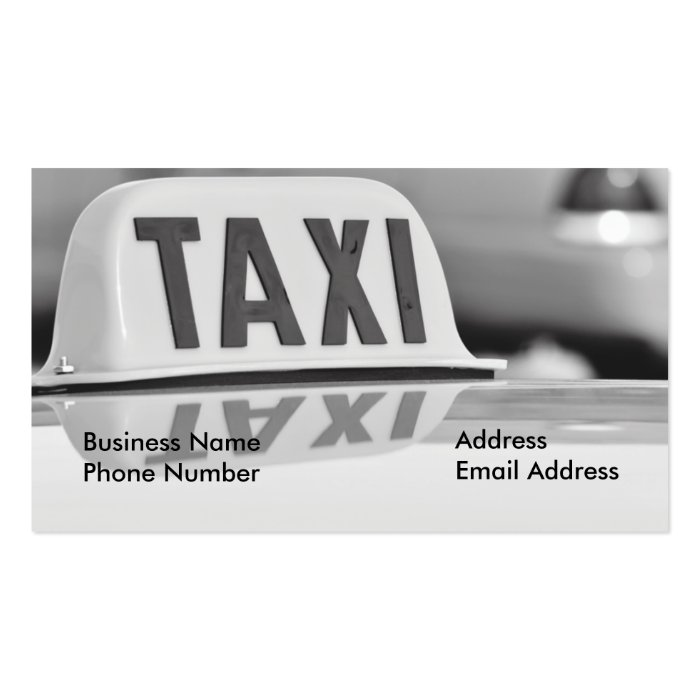 Taxi Cab Driver Service Business Card