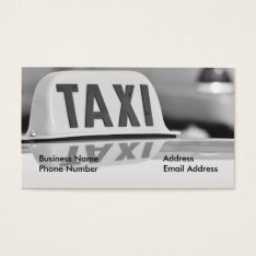 Taxi Cab Driver Service Business Card at Zazzle