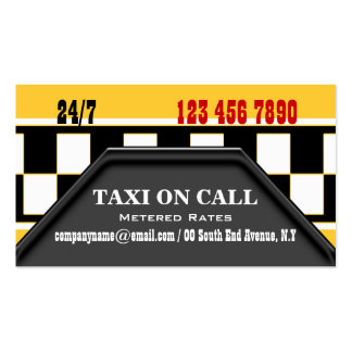 Taxi cab driver services business card