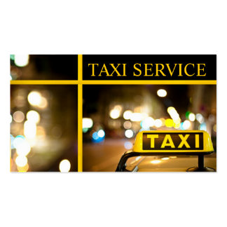 Taxi, Cab, Driver, Transportation Business Card