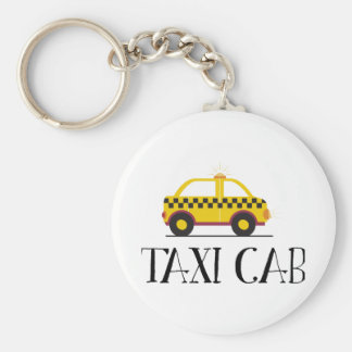 Taxi Cab Key Chain