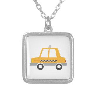 Taxi Cab Square Pendant Necklace