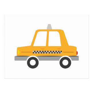 Taxi Cab Postcard